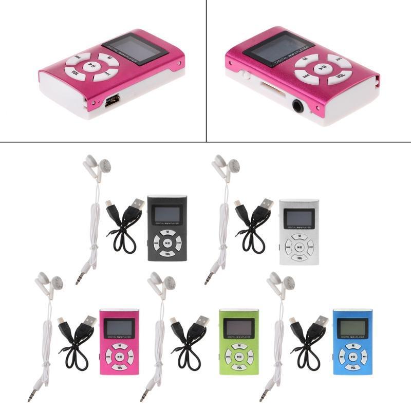 MX-808 Mini USB Алюминиевый ЖК-экран 32 ГБ TF Card Цифровая музыка MP3-плеер