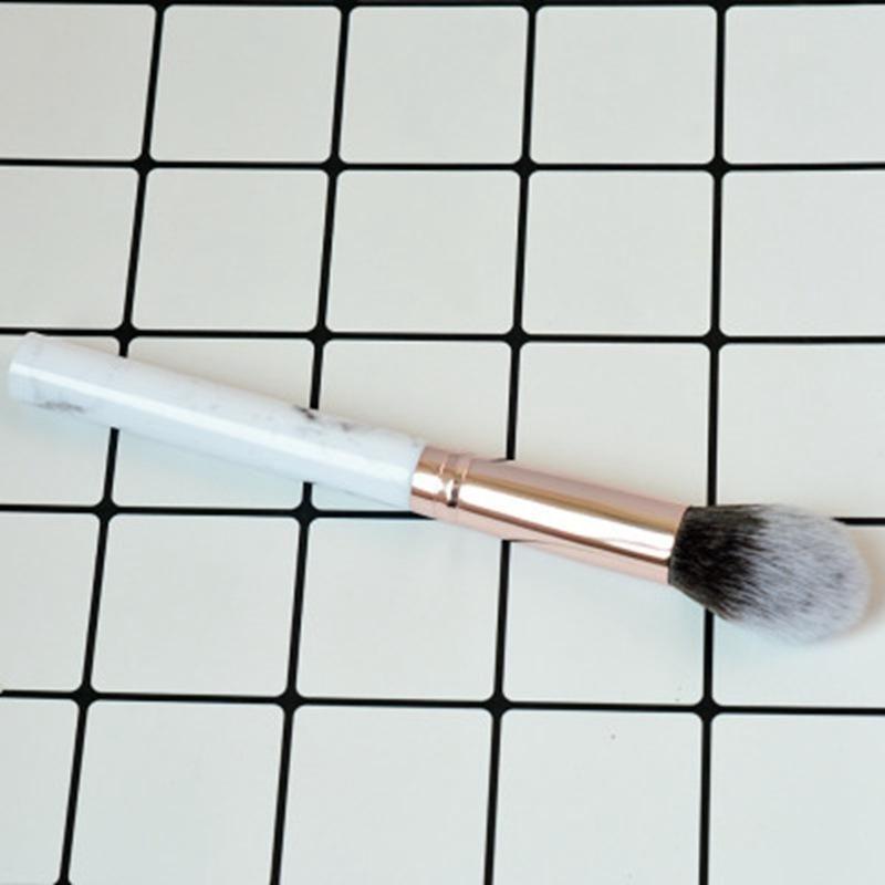 50 ADET Profesyonel Kadın Mermer Fırçalar Makyaj Aracı Yumuşak Makyaj Vurgulayıcı Fırça Kozmetik Vakfı Toz Fırçası