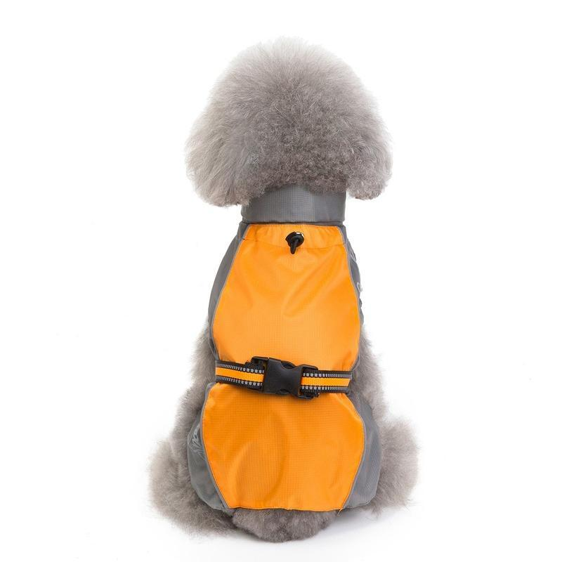 Dog Apparel Solid Polyester Raincoat Pets Dogs Large Small Windproof Rainproof Clothing Autumn/Winter Ponchos Storm