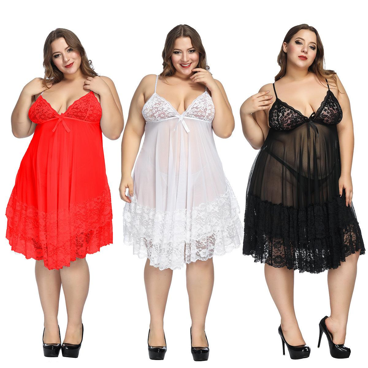 roupa interior camisa sexy sling saia grande gordura mm pijama 200 kg pode ser usado