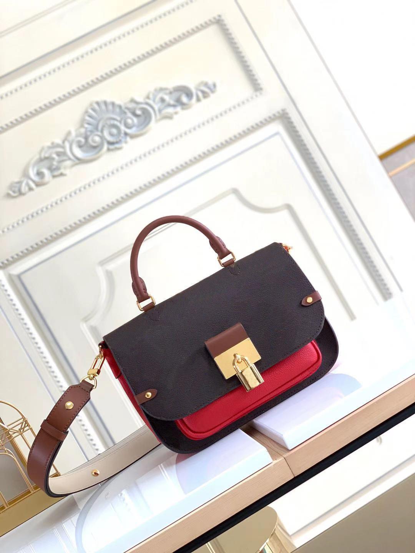 Saco de Vaugirard Chic Versátil bolsa de estilo de mensageiro Greened couro bolsa de ombro mulheres bolsa original totes bolsa com um bolso liso do punho