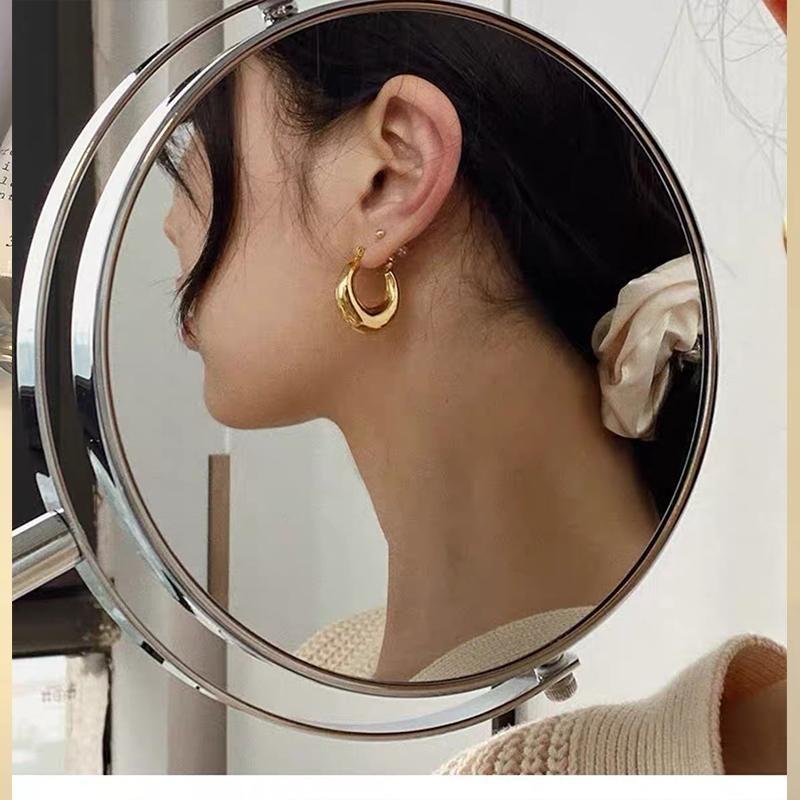 Boako nova moda irregular splating stud brinco para mulheres casamento minimalista brincos vintage moda acessórios de jóias