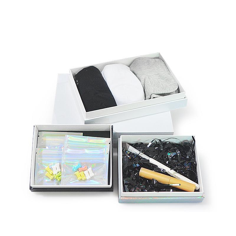 Hediye Paketi 5 adet Özel Tasarım Lüks Boş Sert Karton Ambalaj El Yapımı Kağıt Kutusu Ile Logo Baskı Kozmetik