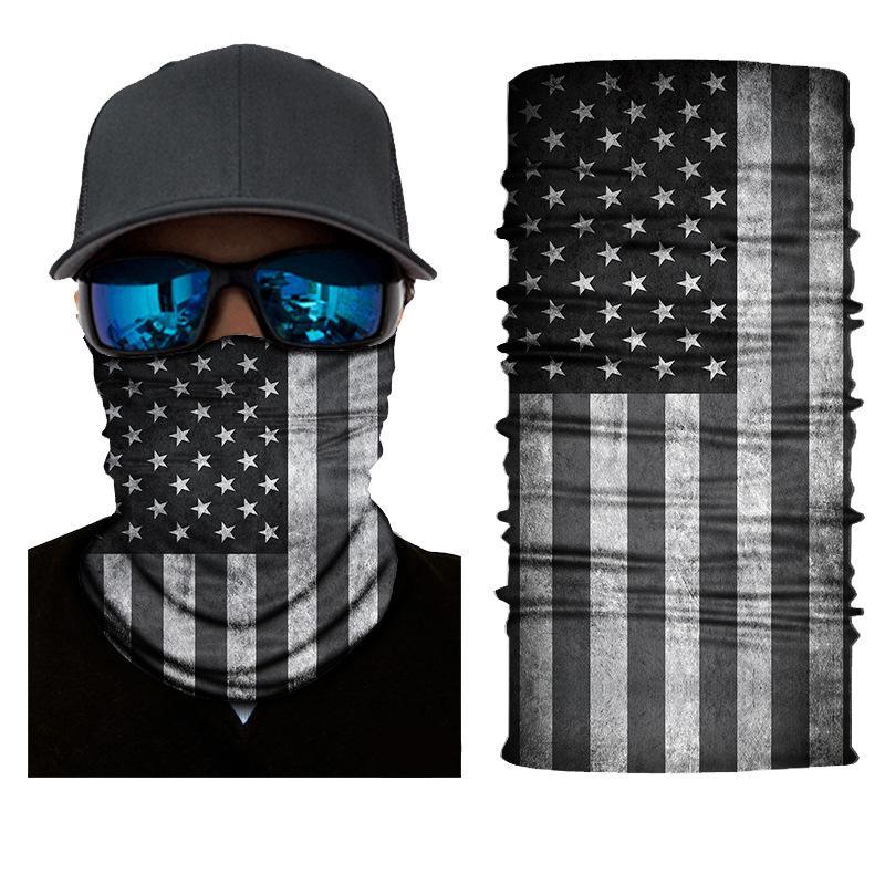 Flag National Fabricant Magic Headf Fabricant Direct Ventes Direct sans soudure Polyatile HeadsCarf Masque Sunscreen UV Protection