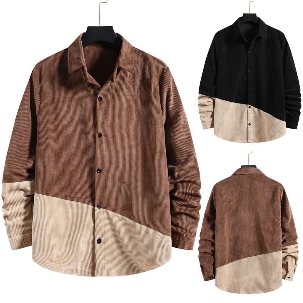 2020 nova moda camisa camisa de manga longa lazer de algodão camisas masculinas tops fitness roupas de grande grotshipping c1212
