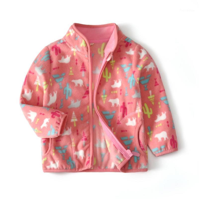 2020 Dessin animé bébé Veste rose Veste pour enfants Vestes d'hiver pour filles Coton Girls Vêtements Vêtements Vêtements De Toddler Manteaux 2-10 Age1