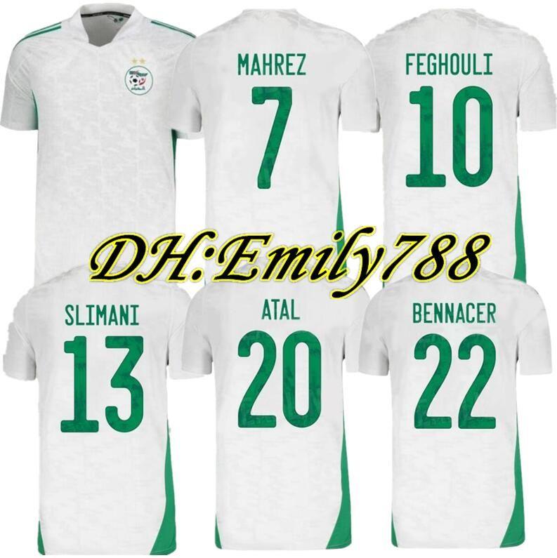 Maillot Algerie 2020 2021 Soccer Jersey Home Away MAHREZ BOUNEDJAH FEGHOULI BENNACER ATAL 20 21 Algeria Maillot de Foot