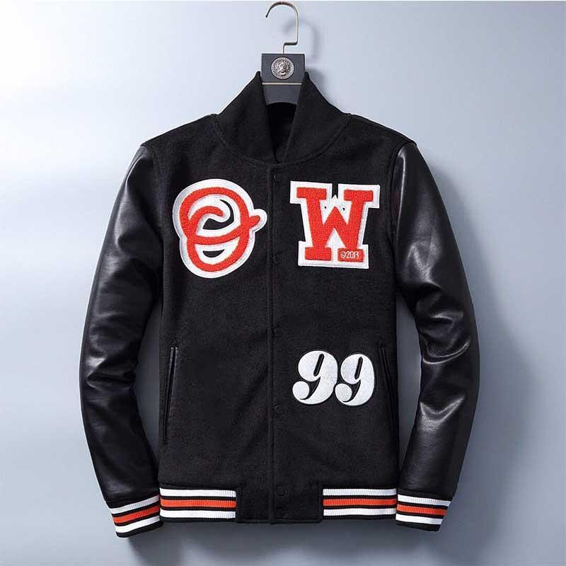 Lettre Mens Vestes Arrow Jacket Régulation Custom Baseball Varsity Ventille Cuir Sleeve Letterman Veste Haute Qualité Personnalisation