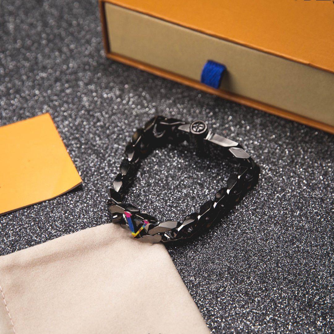 2021 lettre coloré bracelet en acier boucle en acier bracelet bracelet de mode unisexe bracelet de charme de haute qualité en acier inoxydable