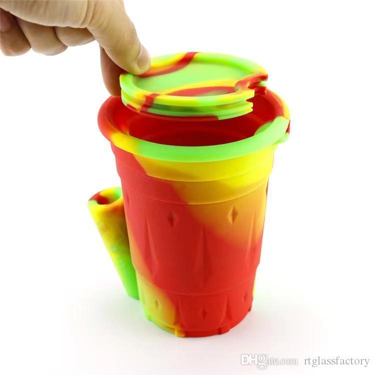 Cendrier silicone coloré avec boîte Durable domestique Novelty Crafts Designer Tuyaux d'eau design