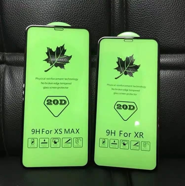 Protetores de tela de vidro temperado 20d capa completa para iPhone SE 2020 11 pro máx x xs xr filme protetor sem pacote