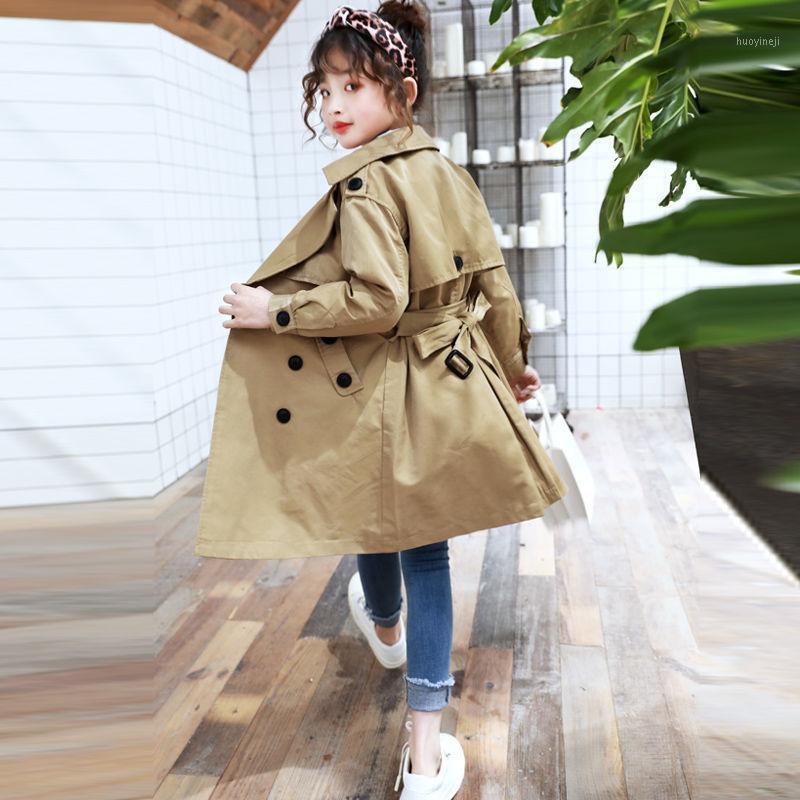 Girls Veste Enfants Winter Coats Double Soitr Sein Breaker Kids Corée Style Chaîne Chaud Hues à manches longues Outwear Outwear Outwear 3-8 ans1