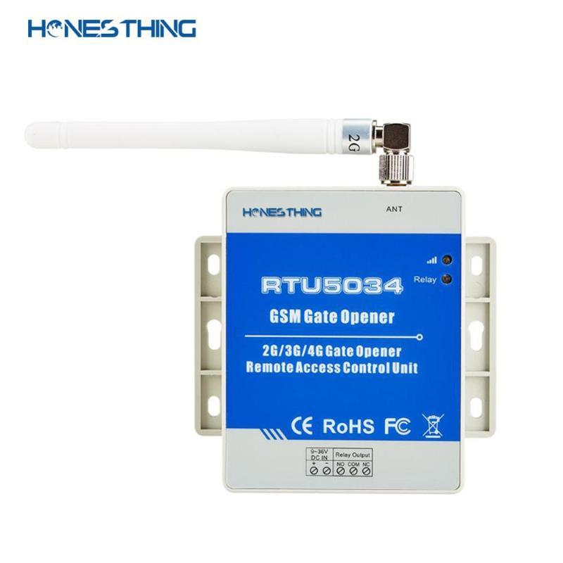 HONNÊTHING GSM 3G Porta Ouvre-télécommande à distance par appel libre RTU5034 Contrôleur d'accès relais pour la balançoire Swing Gate porte porte de garage