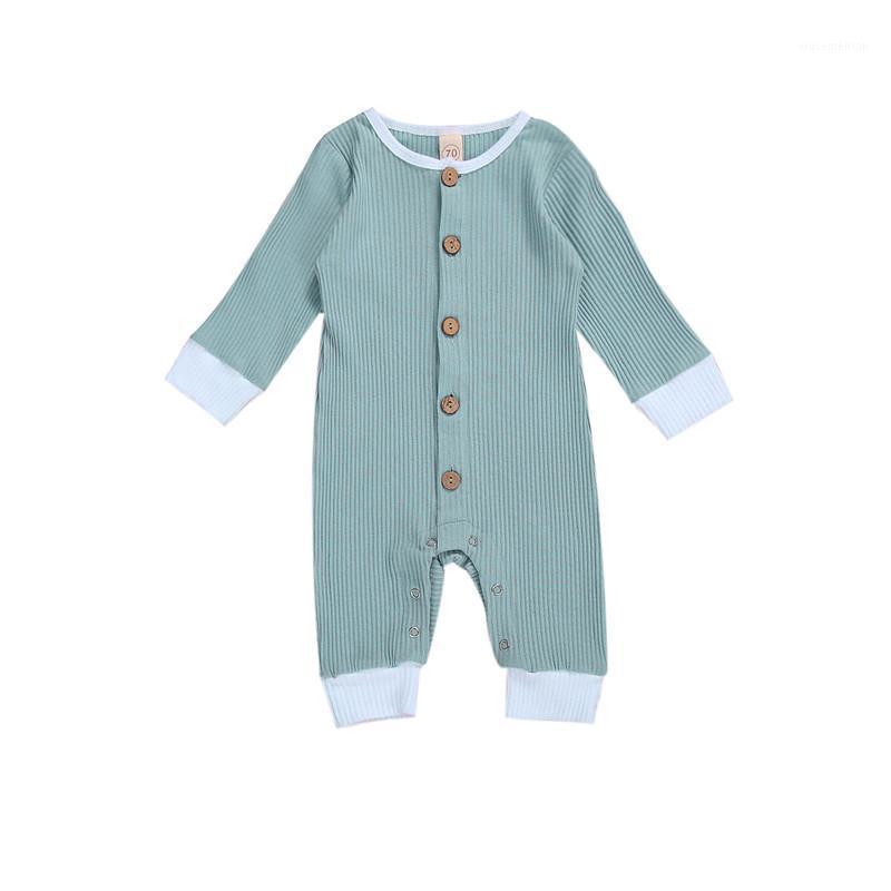 0-24M Newborn Kid Baby Boy Boy Chica Ropa Casual Llanura de manga larga Romper Lindo Sweet Mono Jumpsuit Encantador de ropa recién nacida Traje