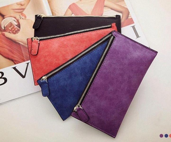 2018 Frans BA Mme Fashion Wallet Zipper Sac simple bourse La nouvelle Lady Long portefeuille de marque Portefeuilles Sacs à main et porte-monnaie 91mm #