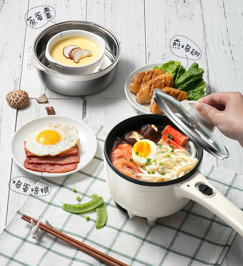 Mini portátil mini multi fogão multi multiooker macarrão panela pequena caldeira de ovo vapor frigideira cozinha quente pote hotpot