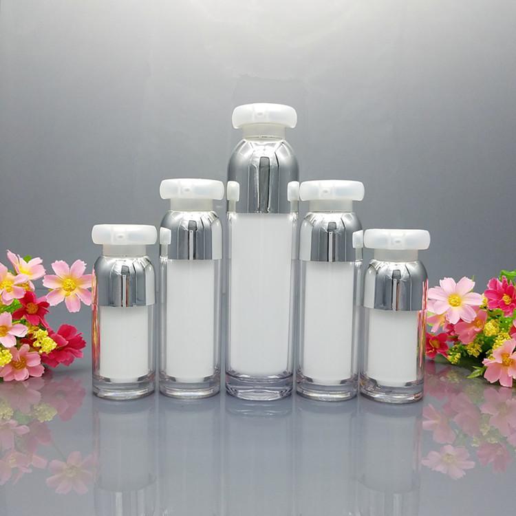 15 ml 30 ml 50 ml 100 ml Emulsión de acrílico vacío Esencia de la esencia de la bomba de vacío 30G 50g Maquillaje Crema Tarro Cosmético Contenedor F060403