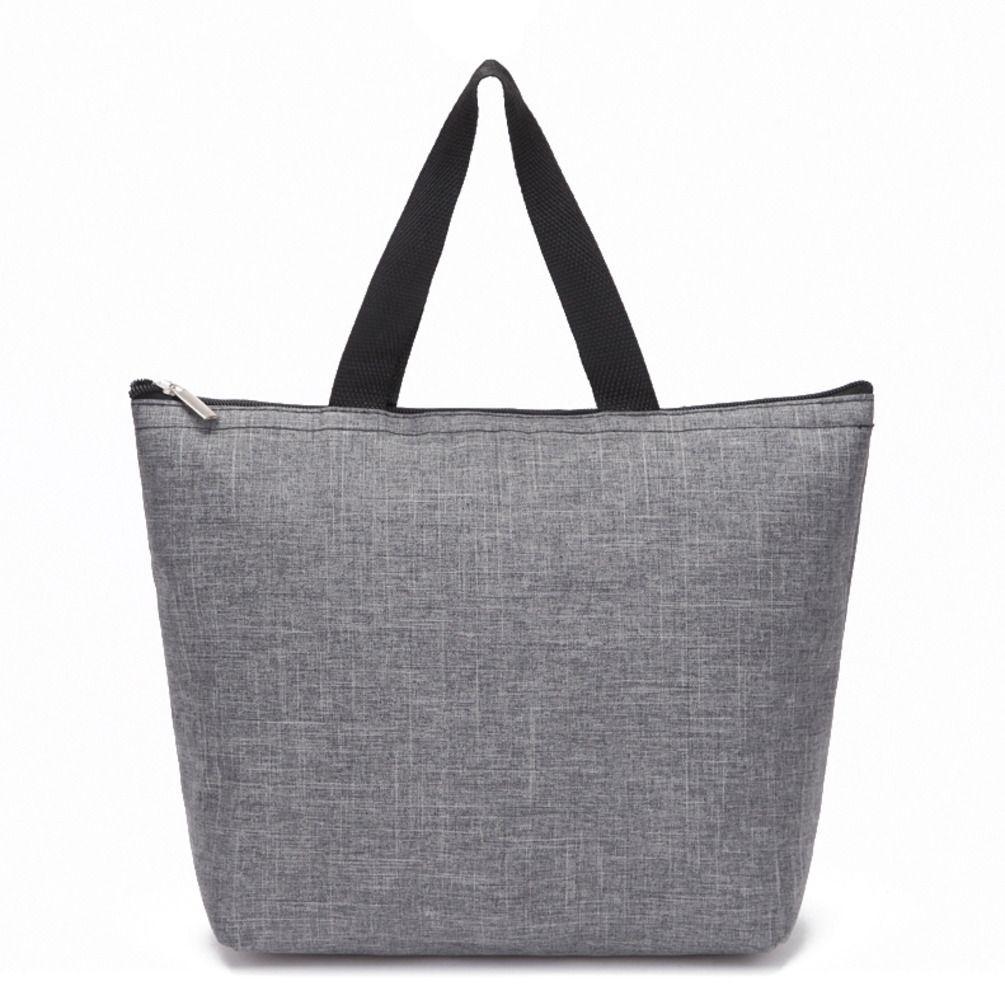 Novos homens e mulheres portáteis cor sólida bolsa 2 cores preto cinza negócios algodão macio plaindolh41 28nj