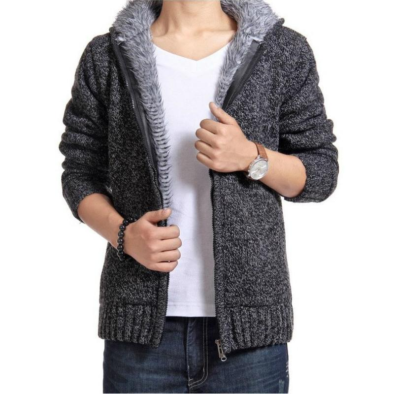 Automne Hiver Hommes Collier Collier Collier Collier à glissière à glissière à fermeture à glissière à glissière Vêtements d'extérieur Vêtements d'extérieure Polaire Cachemire Sweater SweaterSurn-Down