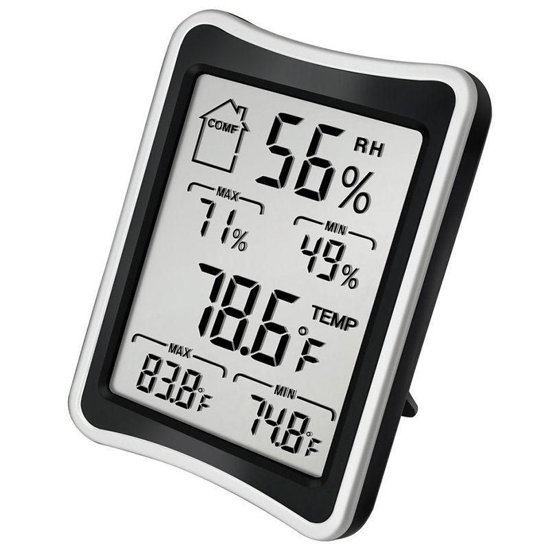 Digital LCD Ambiente Termômetro Higrômetro Higrômetro Medidor de Temperatura Medidor Grande Thermômetros e Higrômetro GWD3653