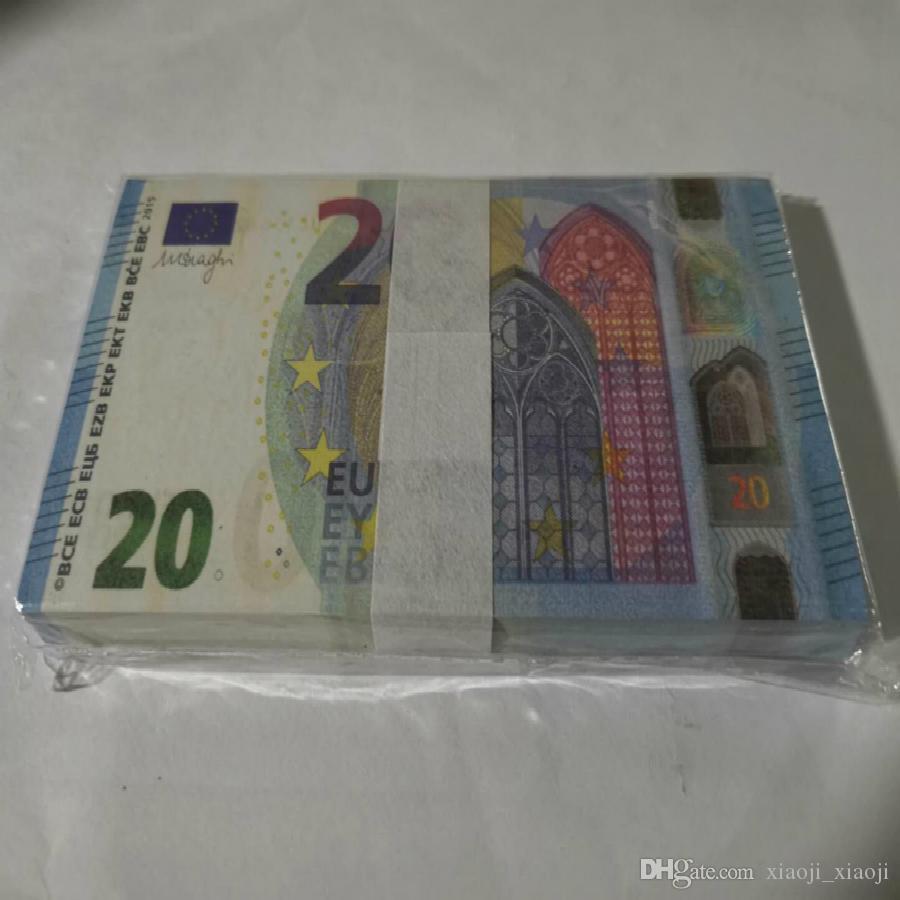 Trick Euro Faux Billet Bühne Festival Requisite Best Kopie Geld Prop Toy Währung Partei Banknote Geschenke Kindersammlungen 20 Geld Holi Ktox