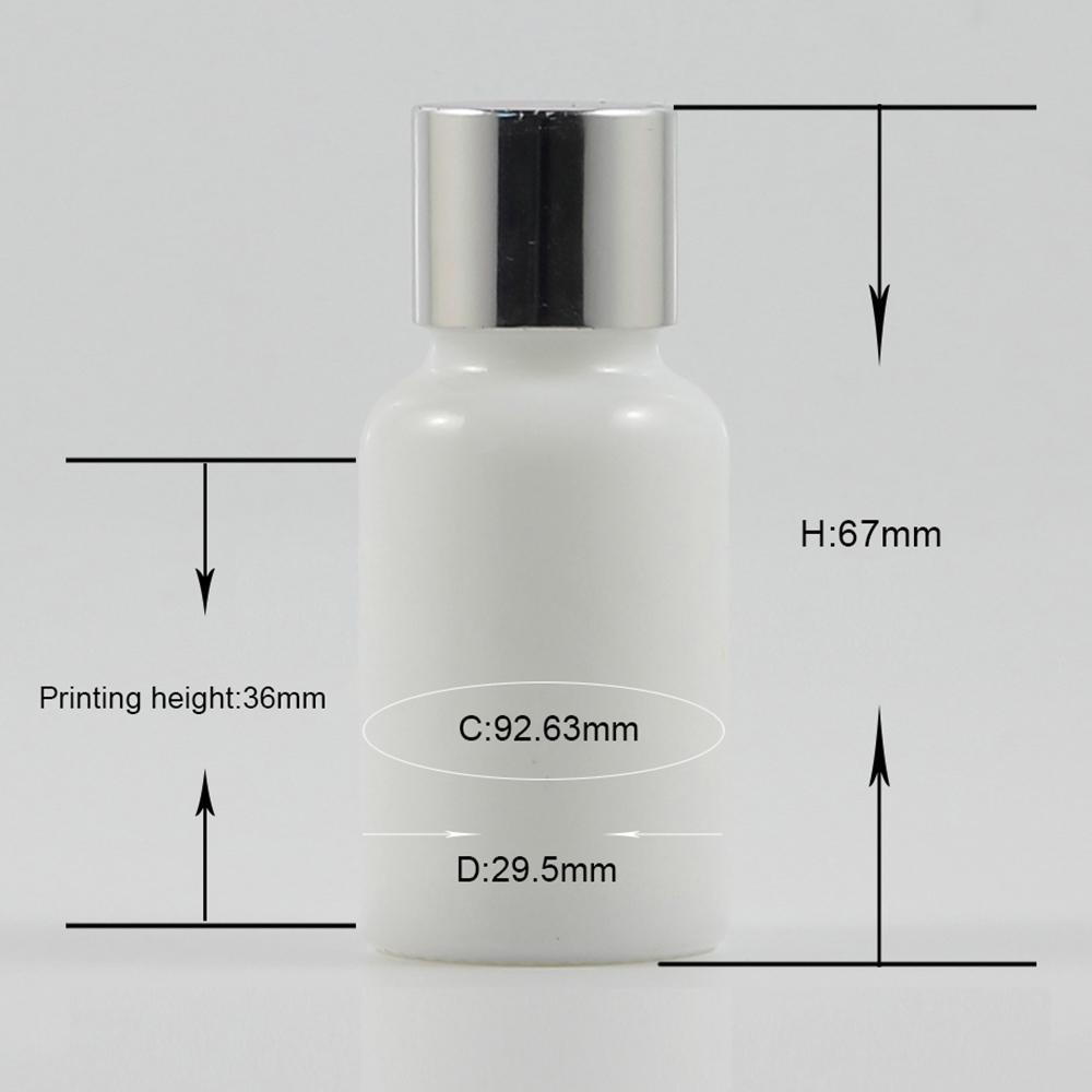 China fornecedor de vidro de 15 ml frasco de óleo essencial com tampas de prata, dispensador de 15ml de vidro