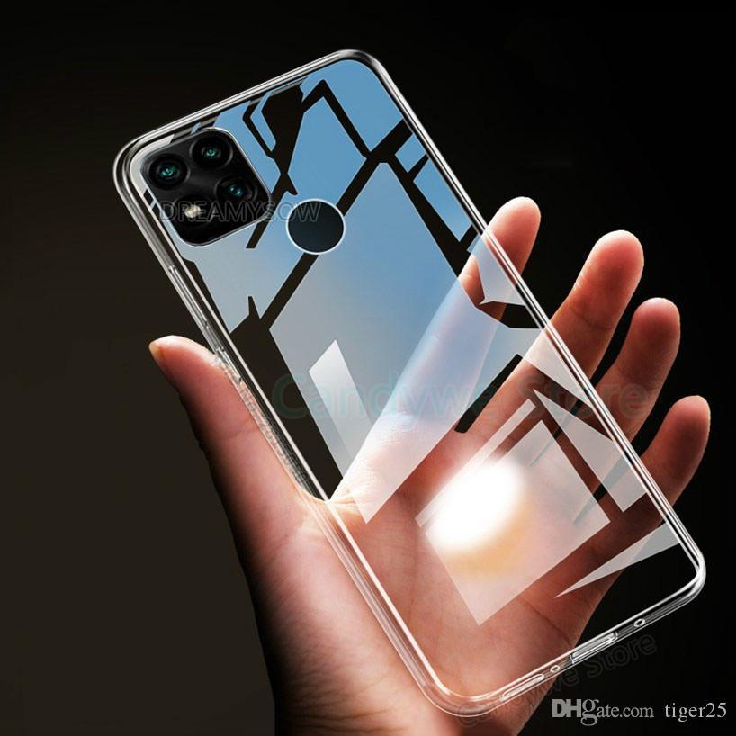 Transparente Clear TPU Case Telefone para Redmi 9 9A 9C 8 8A 7A Nota 9 S 9S Silicone Capa para Redmi Nota 7 8 8T 9 Pro Max Capa Suave