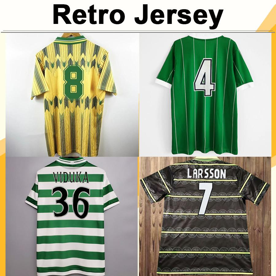 1982 2002 LARSSON LAMBERT RETRO Mens Soccer Jerseys VIDUKA MORAVCIK MJALLBY BLINKER BRATTBAKK Home Away Short Sleeve Football Shirt