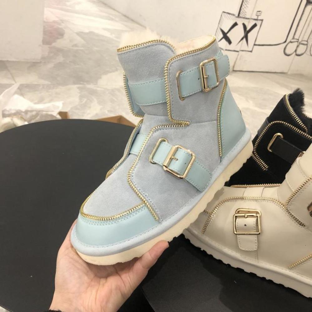 أحذية واحدة لصناعة الجوارب المسطحة مصمم الشتاء أحذية الثلوج 2020 الاتجاه سوداء الفراء قارب المرأة