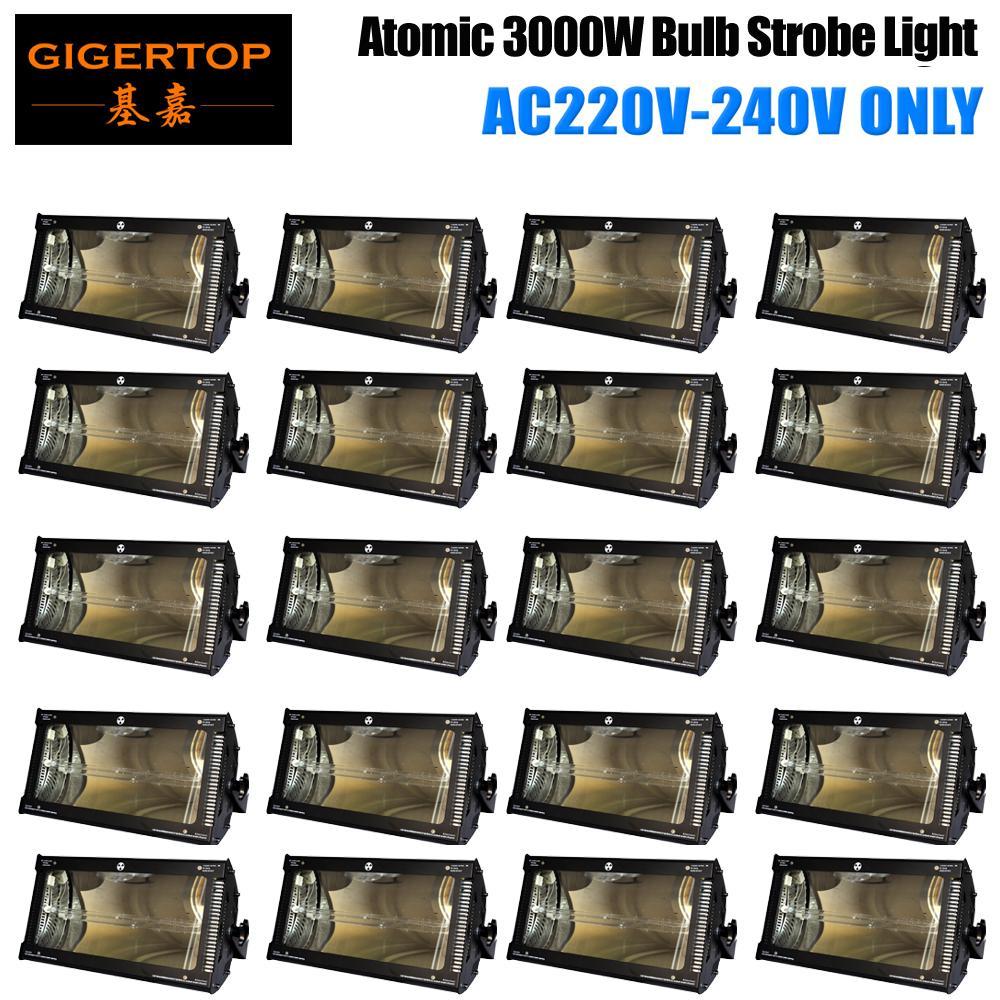 Gigertop 20 Einheiten 3000W Martin High Power Lampe Stroboskop DMX Control Original Version Lange Lebensdauer Weiß-Blitz-Licht High Speed