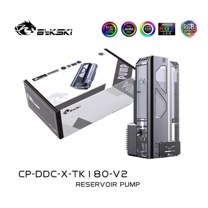 Bykski DDC Combo Насос + резервуар Combo с цифровым дисплеем Максимальный подъемник для потока 6 метров 600L / H Длина цилиндра воды 180 мм1