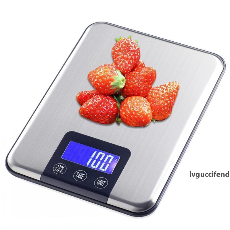 Household Kitchen Scale 15kg/1g Baking Cooking Tools Food Diet Electronic Postal Balance Weigh LCD Digital Weight Scales T200326