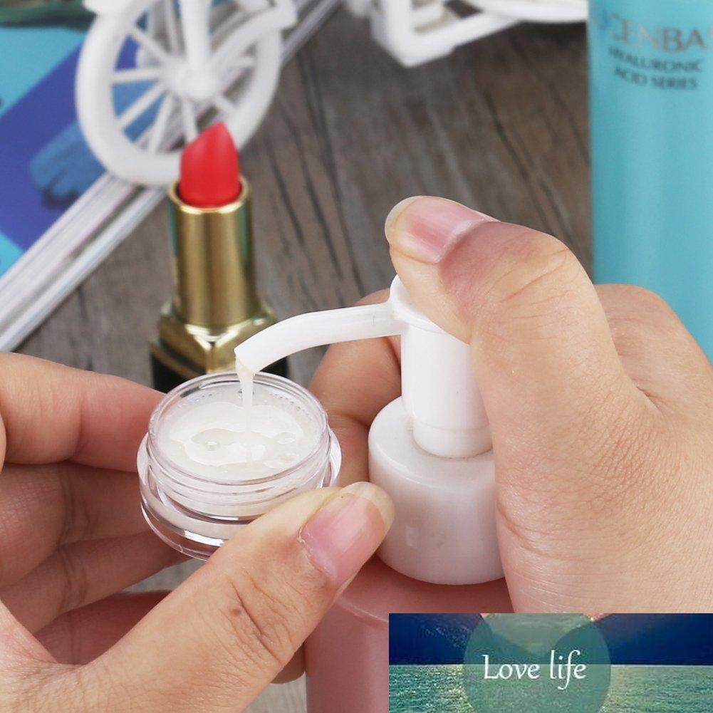 100 unids Vacío Viaje de plástico Tras de cosméticos Frascos de maquillaje Contenedor de contenedores Redondos Arte de uñas Crema Crema Muestra Potes Perfume Cajas de gel