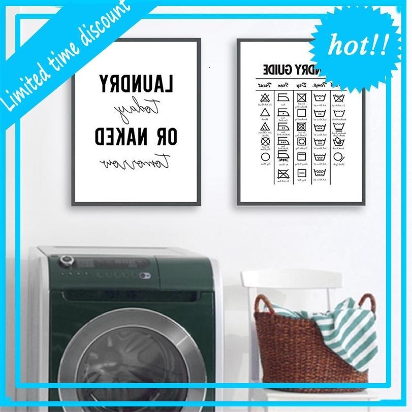 Hoy Decoración de la cámara Guía de símbolos de agua Arte Lienzo Pintura Póster Cuarto de lavadero Decoración de la imagen YX138