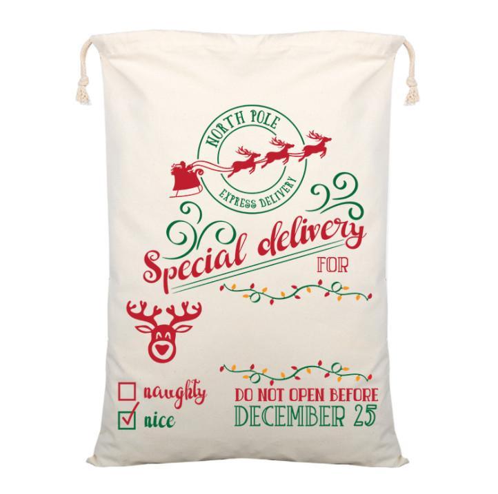 أحدث 70x50cm الحجم، العديد من أنماط أكياس هدايا عيد الميلاد، زينة عيد الميلاد، أكياس عيد الميلاد القطن، جيوب الرباط القطن، مجانا