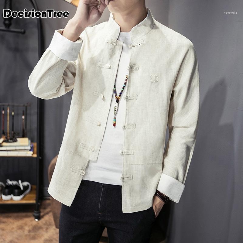 2020 Тан костюм традиционная китайская одежда для мужчин одежда блузка китайские топы винтажные ZEN случайные рубашки1