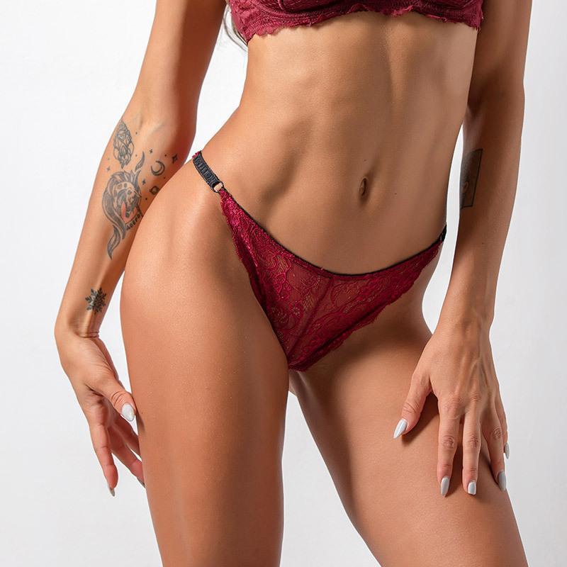 Французские кружевные прозрачные трусики любезные трусики мода, шарм горячий стиль, замаскирующие стринги с низкой талией женского нижнего белья