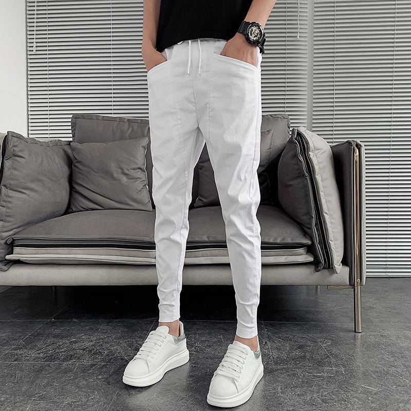 Vente chaude Été Hommes Harem Pantalons Fashion Slim Fit Fit Hip Hop Pantalon Casual Hommes Tous match Streetwear Joggers Hommes Vêtements 36-27 201110
