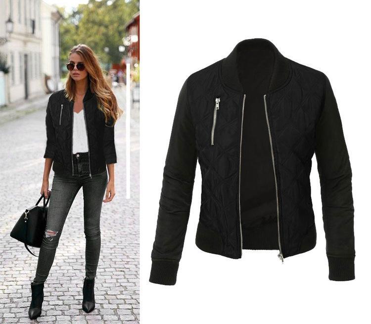 Европа и Соединенные Штаты Chunqiu Новый чистый цвет молнии хлопковая куртка 0137 # куртка