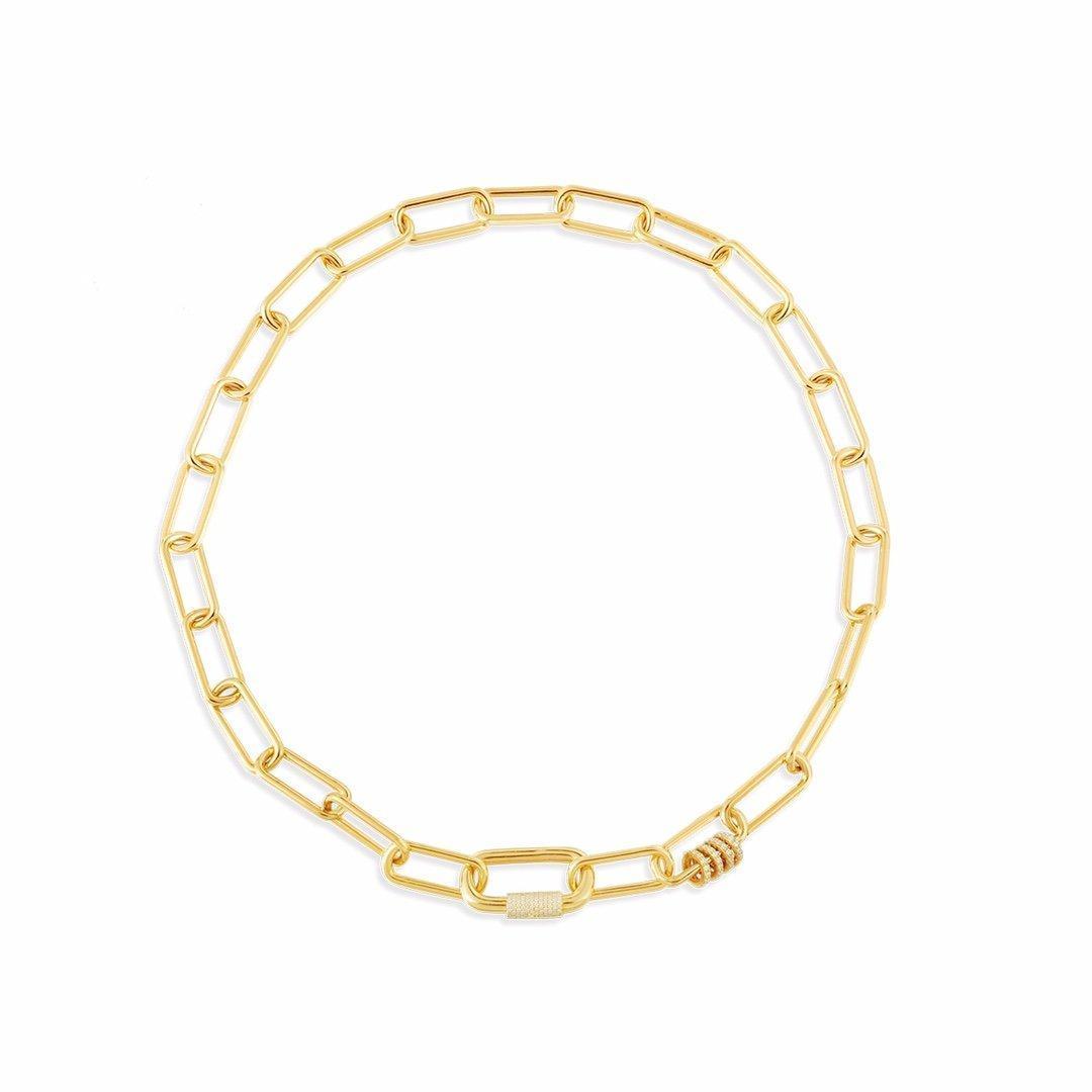 Cadena de amor de oro Collar grueso Pulsera Pendientes helados Out Cadenas Collar de joyería Hombre 14k Cadenas de oro Anillos Cadena de enlace cubano