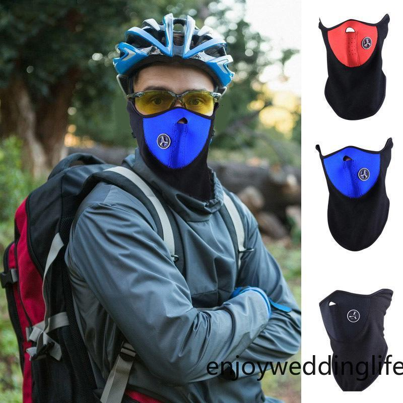 Fahrrad Radfahren Motorrad Half Gesichtsmaske Winter Warme Outdoor Sport Ski Maske Fahrradkappe CS Maske Neopren Snowboard Neck Schleier
