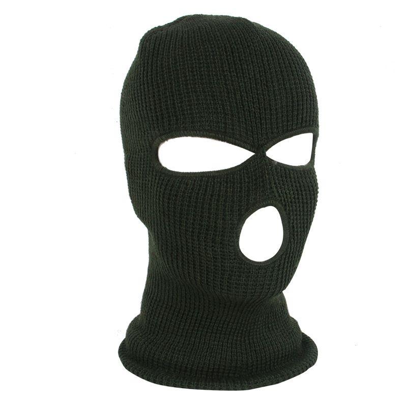 Cara nueva tejida 3 máscara máscara de esquí Mascarilla de esquí Balaclava Hat Face Beanie Cap Snow Invierno Motocicleta Casco Hat Máscaras Máscaras HH9-