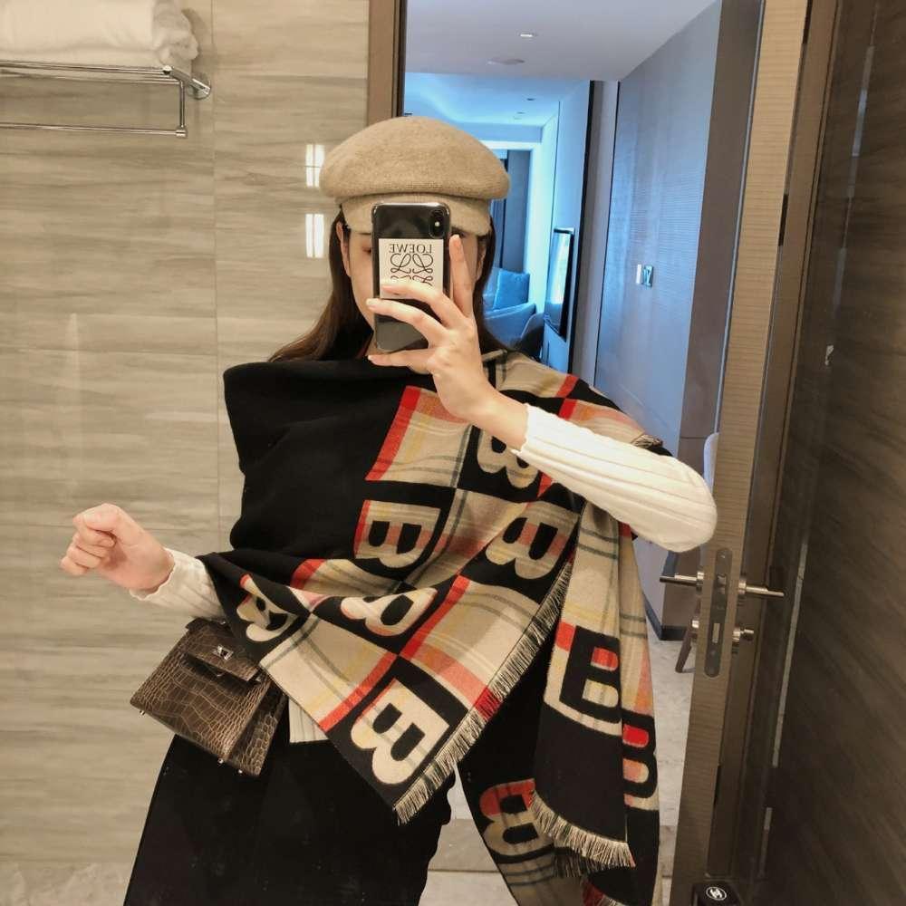 여성 가을과 새로운 캐시미어 패션 편지 스카프 목도리 듀얼 목적 턱받이 따뜻한 겨울