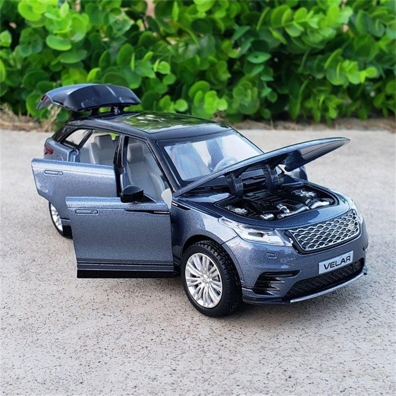 1:32 Skala Diecast Alloy Metall Luxus SUV Automodell für Range Rover Velar Collection Offroad Fahrzeug Modell Soundlight Toys Car LJ201209