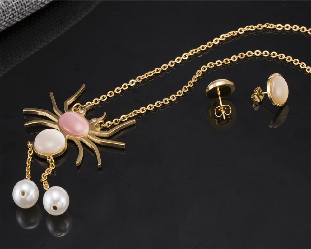Vintage folk custom Jewelry sets for women wedding jewelry set Party fashion accessories Spider Necklace Jewelry Set