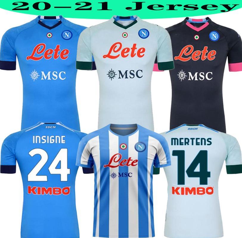 2020 2021 Napoli Maradona Soccer Jersey 20 21 Koulibaly Camiseta de Fútbol Insigne Milik Maillots H.Lozano Mertens Hombres niños Camisa de Fútbol
