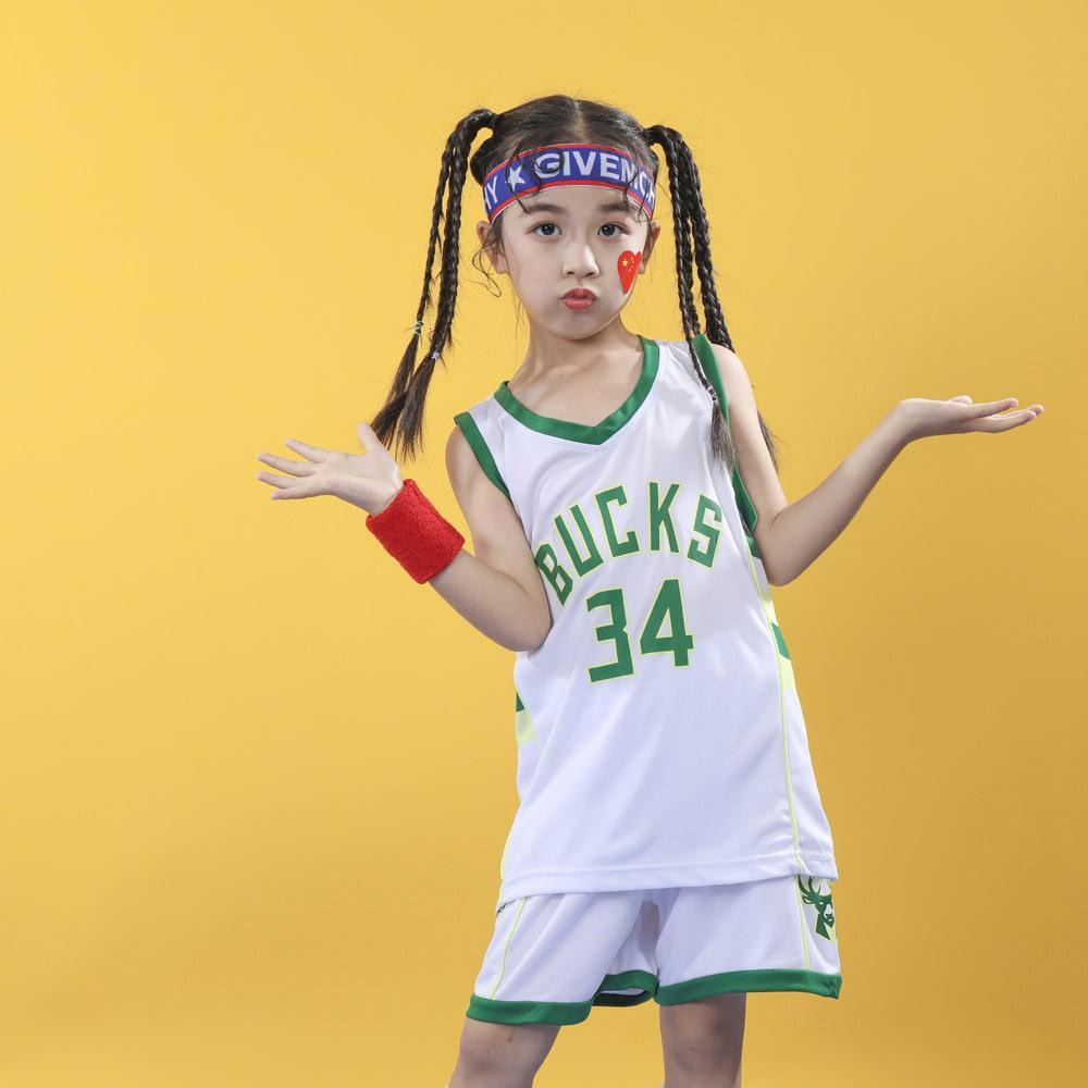 Bucks No.34 Basketbol Gömlek Yeni Rahat Spor Çocuk Giyim Mağazası