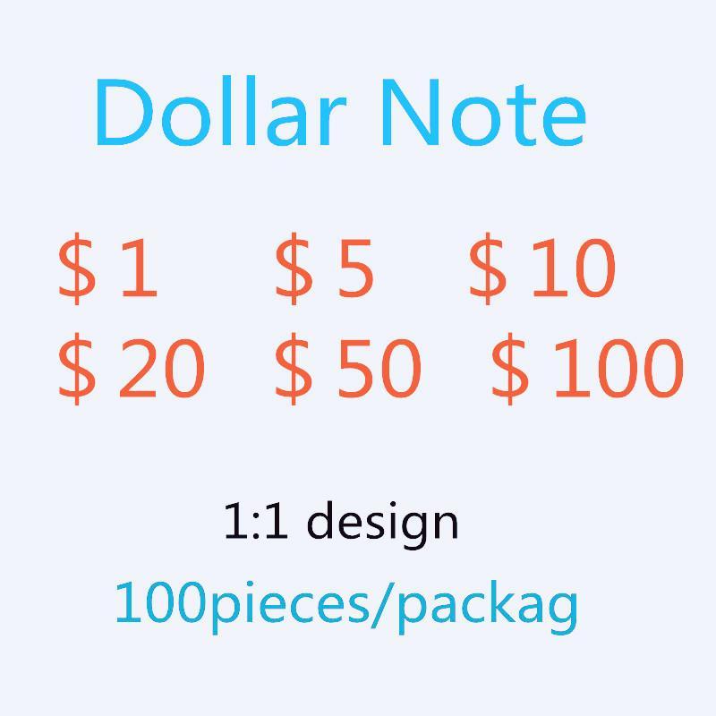 El dinero Toke Simulación de la venta caliente Papel de práctica 148 Nueva Moneda Spoof Game Dollar Moneda Fake Counting 100 L Alob