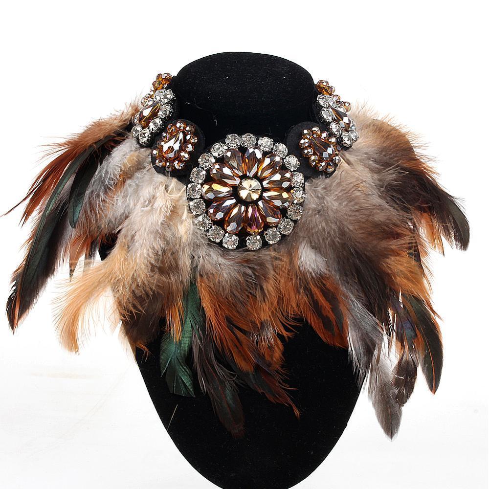 Diseño de lujo encanto joyería anulación negro veren cuello cadena cristal suspensión declaración de moda chokers cadenas