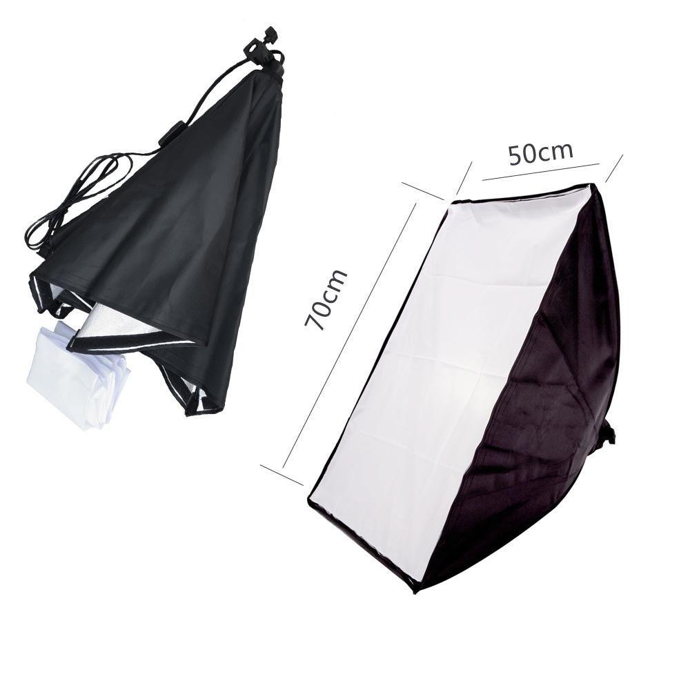 Titular Photography Studio Vídeo Acessórios 50 * 70CM Wired Softbox Lâmpada com E27 Tomada para iluminação contínua com Carry Bag